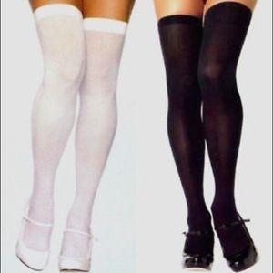 Leg Avenue Thigh High Nylon Tights white New
